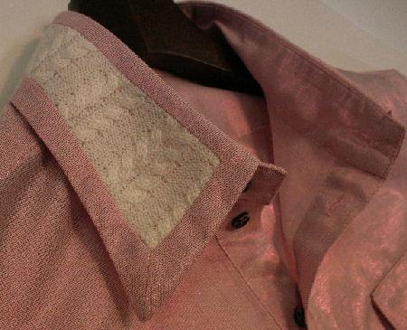 ピンクシャツ襟【布生地の通信販売a-priori(アプリオリ)】
